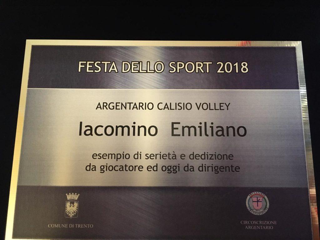 Targa Emiliano Iacomino